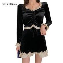 Бархатное платье с квадратным вырезом женские платья длинным