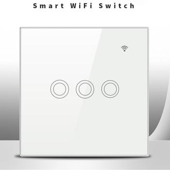 3 Gang 3-Way WIFI Touch Switch Wireless Smart Home Switch for Google Home Amazo Alexa Voice Control Switch image