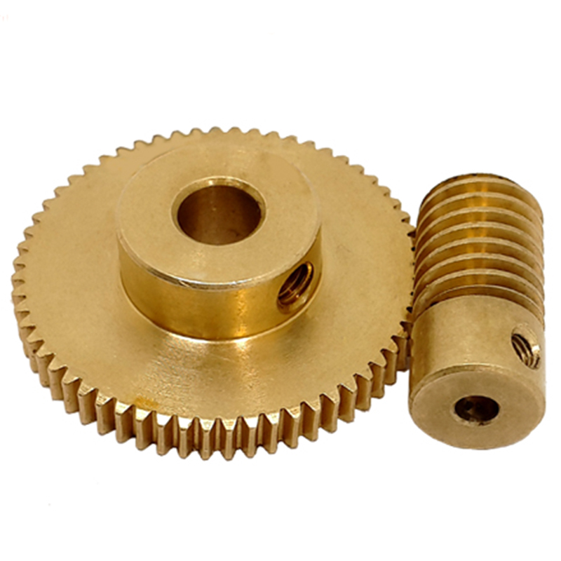 Worm Outer Diameter Small Copper Worm Reduction Ratio 1:60 Worm Gear Worm Worm Gear Small Reduction Machine Box Production