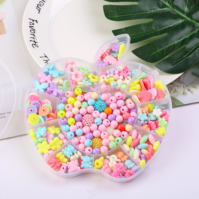 Handmade Creative DIY Children Bead Toy Educational Joint Colorful Beads Bracelets Necklace Weak Sight Correct Bead Gift