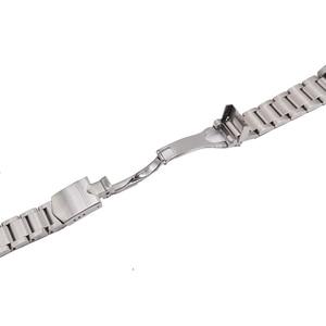 Image 2 - Carlywet 22mm 고품질 316l 스테인레스 스틸 실버 시계 밴드 스트랩 시계 밴드 tudor 블랙 베이