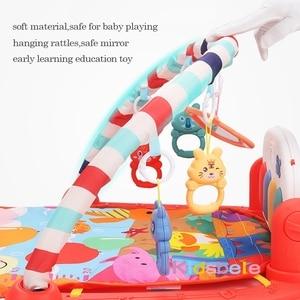 Image 4 - תינוק שטיח תינוק חדר כושר פעילות Playmat מוסיקלי פסנתר רעשנים צעצועי 0 12 חודשים פעוטות זחילה למידה מוקדמת פאזל מחצלת צעצועים