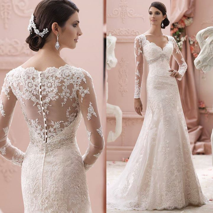 2015 Full Sleeve Lace Mermaid Sexy Wedding Dresses Fashionable Long Bridal Gowns Vestido De Festa Longo Com Renda E Tule Limited