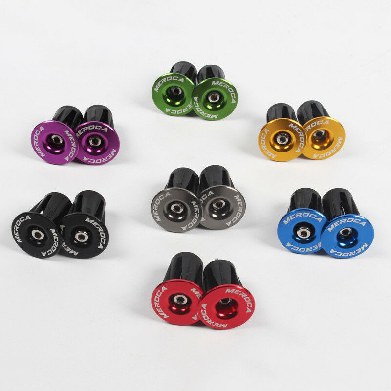 MEROCA 2Pcs Mountain Bike Bar End Plugs Aluminum Alloy Lock Bicycle Accessories MTB Road Bike Handle Handlebar Plug End Cap