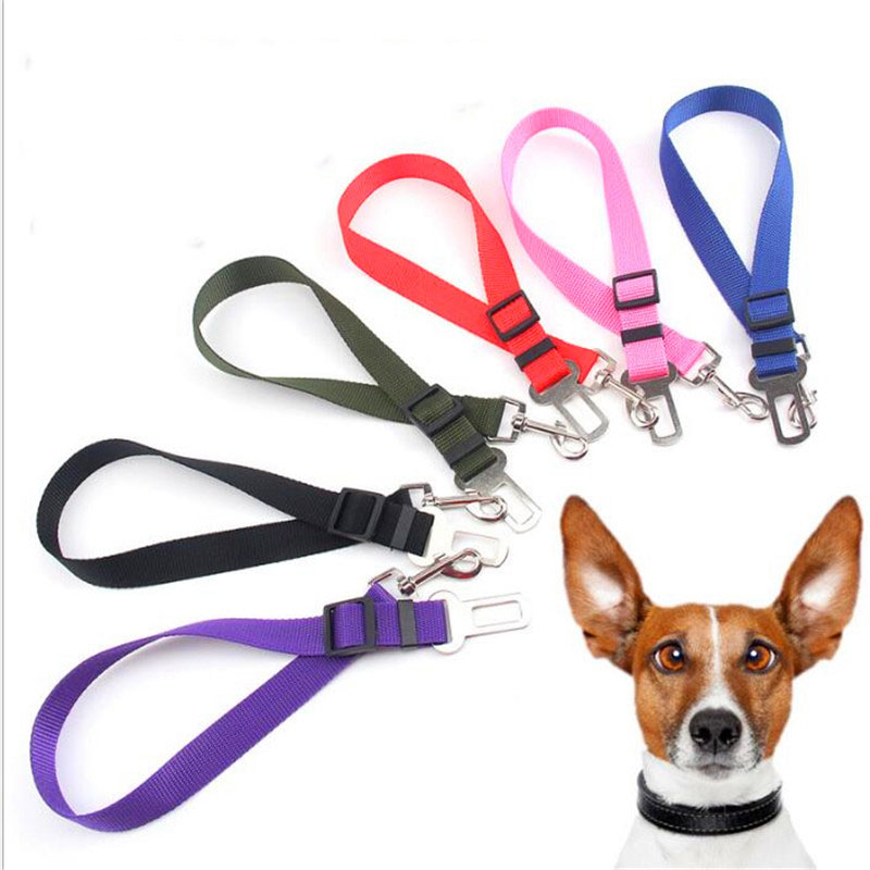 Dog Car Seat Belt Safety Protector Travel font b Pets b font Accessories Dog Leash Collar