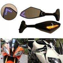 Motorcycle LED Rearview Mirror with Light for Yamaha YZF R1 R6 FZ1 FZ6 600R R3
