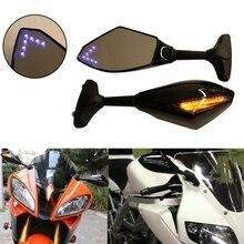 Đèn LED Xe Máy Gương Chiếu Hậu Có Đèn Dành Cho Xe Yamaha YZF R1 R6 FZ1 FZ6 600R R3