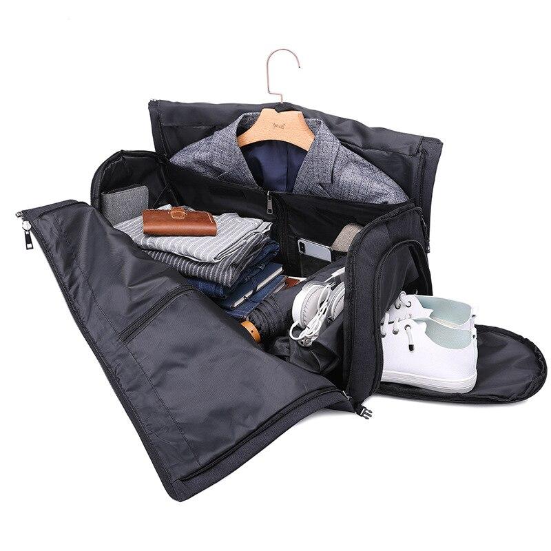 Voyage pliable costume couvre sacs de rangement chaussures manteau vêtement poussière organisateur chariot sac à main à glissière bagages emballage accessoires