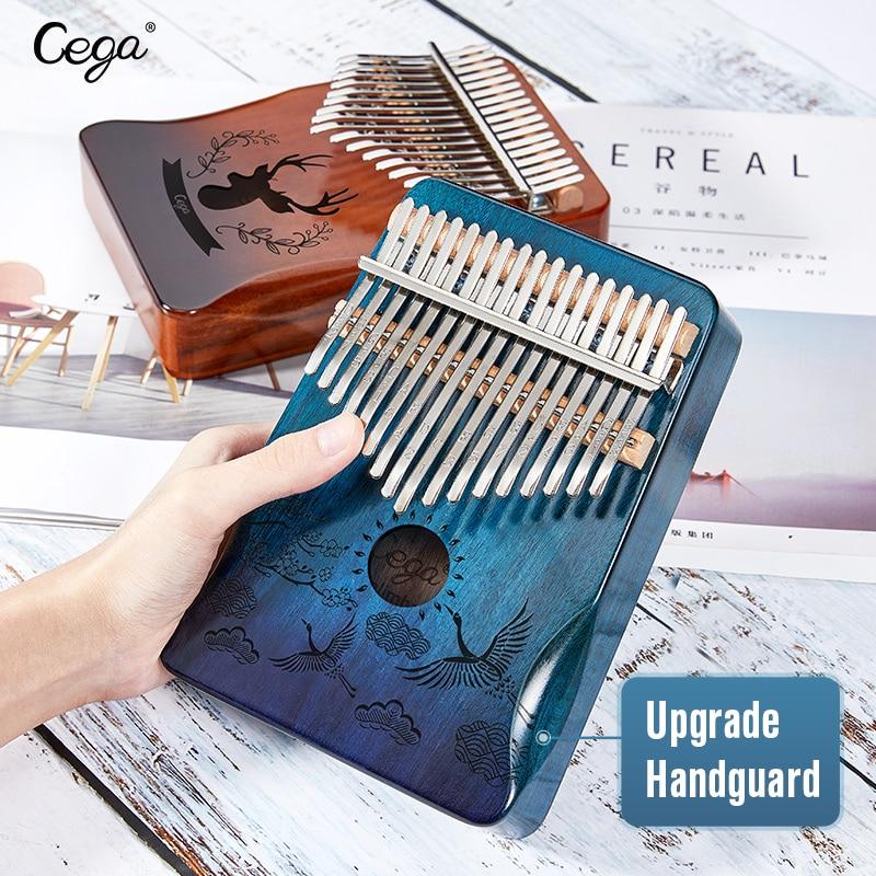 Cega kalimba 17 schlüssel mahagoni daumen klavier mbira musical Instrument Afrika finger klavier 30key maschine teclado instrumento musical
