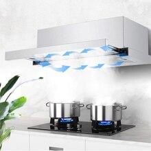 Выдвижная мини-вытяжка 600 мм, домашняя кухонная мини-вытяжка для квартиры, встроенная вытяжная вытяжка из нержавеющей стали, маленькие вытя...