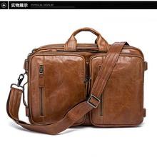 Male #8217 s Genuine Leather Bag Messenger Bag CrossBody Bags Shoulder Handbag Male Luxury Handbags 2019 Fashion Flap Pocket cheap XIYUAN Cow Leather Solid Bag None COTTON 1 9kg 27cm zipper Casual Chain Strap 2 5cm Briefcases 7112 17 Inches 38cm