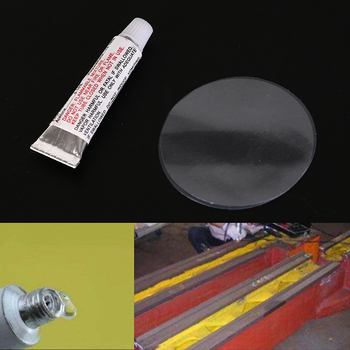 Hot 1set (1xglue + 2xpatches/set) Swimming PVC Adhesive Inflatable Repair Glue Tube Patch Boat Yoga Ball image
