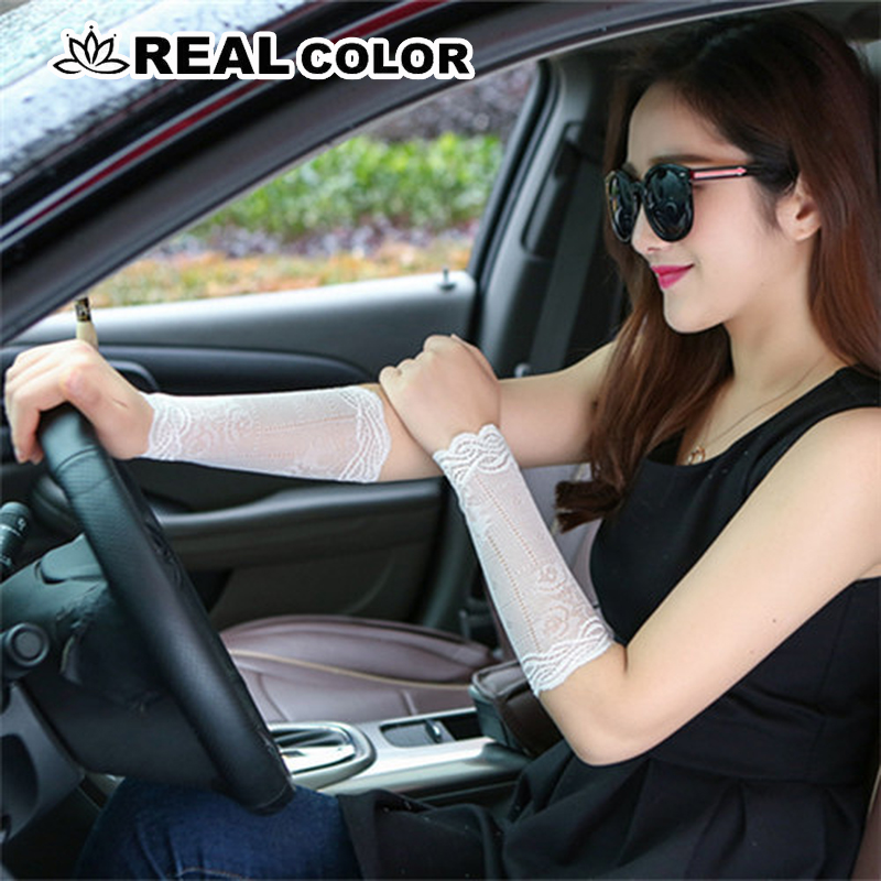 Women Arm Sleeves To Cover Tattoos Lace Upper Arm Sun Protection Arm Covers Driving Finger Less Long Gloves Scar Cover 2019 -85