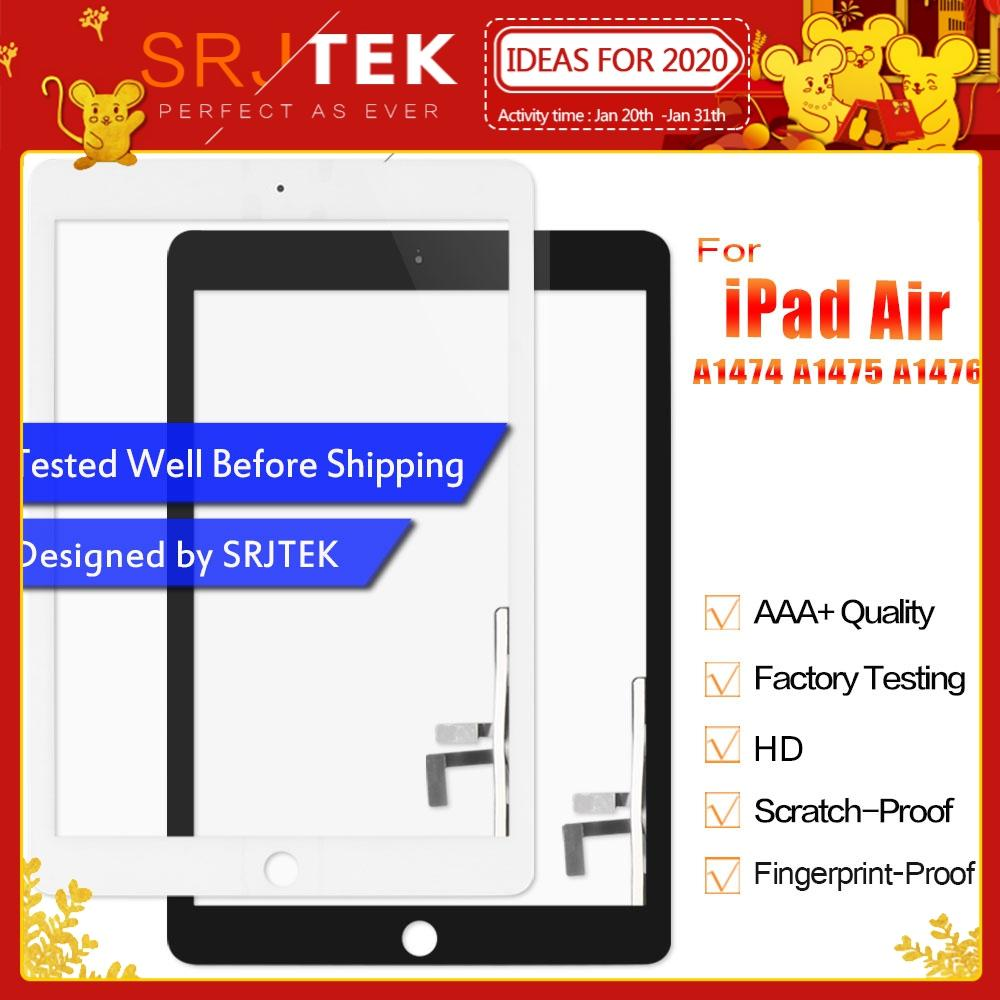 Touch For IPad Air IPad 5 Touch Screen Digitzer For IPad5 IPad Air 1 Screen Glass Panel Sensor Home Button A1474 A1475 A1476