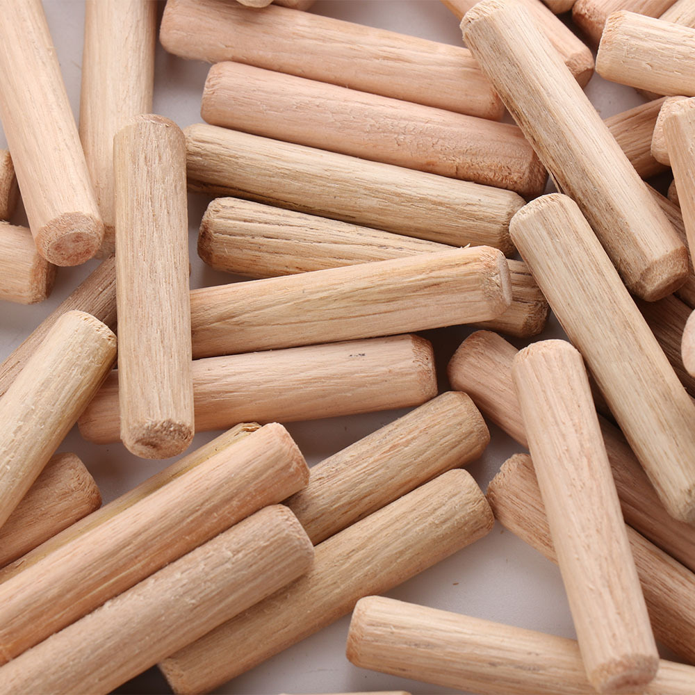 100pcs 8mm Wooden Dowel Cabinet Drawer Round Fluted Wood Craft Dowel Pins Rods Set Furniture Fitting Wooden Dowel Pin