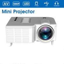 Przenośny Mini projektor LED wideo projektor do kina domowego 500 lumenów obsługuje HD wyświetlacz 4k projektor 4K projektor led 1920 #215 1080 tanie tanio VisionTek Brak CN (pochodzenie) 16 09 System multimedialny 1920x1080 dpi Projector 400 1 Domu Rzucanie 0 325KG 0 4-2 5m