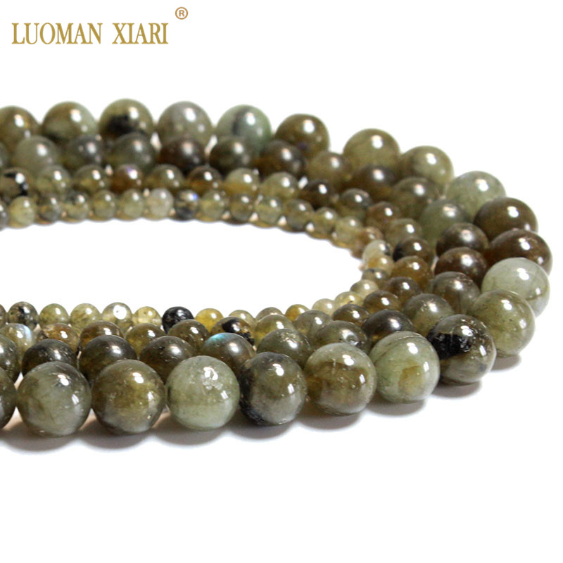 Wholesale 100 Natural Rare Green Labradorite Round Stone Beads For Jewelry Making Diy Bracelet Necklace 4 6 8 10mm Strand 15 Beads Aliexpress