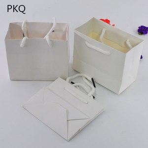 Image 4 - 3ขนาดสีขาวของขวัญกับจับสีดำ/กระเป๋ากระดาษคราฟท์สีน้ำตาลสำหรับบรรจุภัณฑ์ขนาดเล็กสีชมพูเครื่องประดับกระเป๋าปัจจุบันกระเป๋า