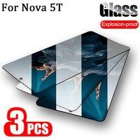 3 uds cristal templado Huawei-Nova-5T protector de pantalla de vidrio templado Nova5T 5 T T5 screen protector Huawei 5T Nova 5T protector pantalla Nova 5 T glass Nova5 T Huawei 5 T