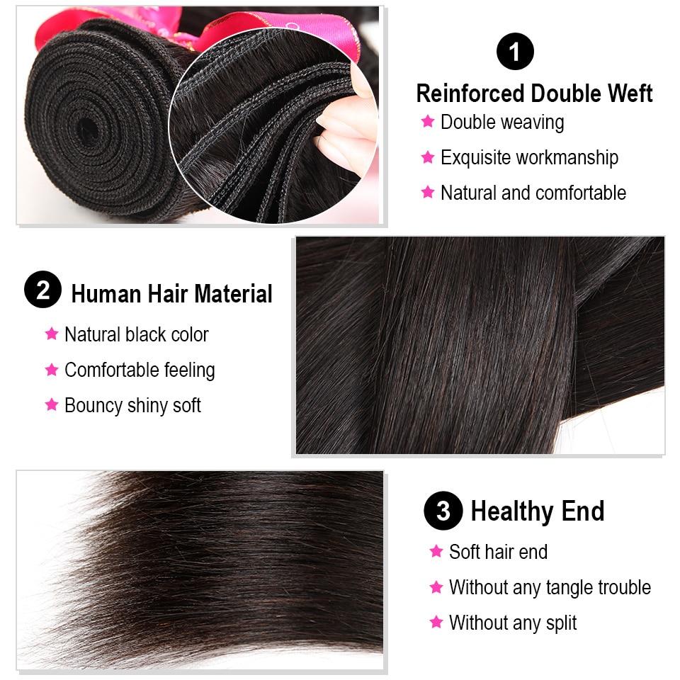 Hc1c4d93a794f4dc2960129acd243cc47f AliPearl Hair 100% Human Hair Bundles With Closure Brazilian Straight Hair Weave 3 Bundles Natural Black Remy Hair Extensions