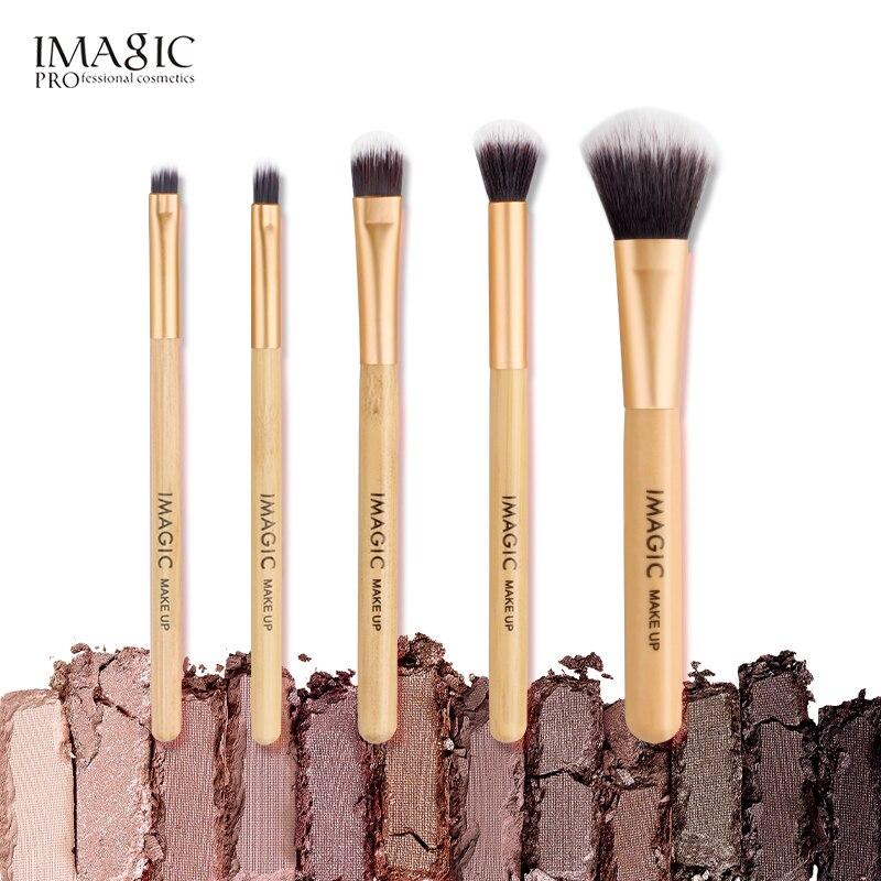 IMAGIC новые женские Модные кисточки, 5 шт., деревянный для косметики, теней, кисти для макияжа, наборы кистей для красоты