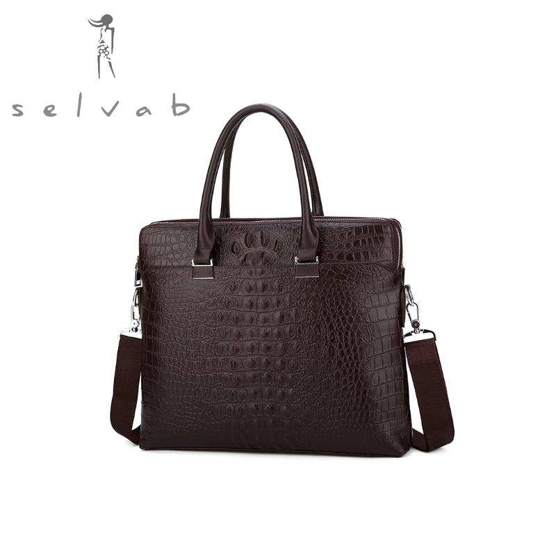 Новинка 2019, мужская сумка, модная, новая, деловая, с узором «крокодиловая кожа», сумка через плечо, для документов, компьютера, подарок