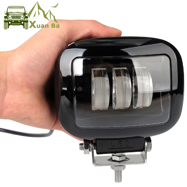 6D Lens 5 Inch Round Square Led Work Light 12V For Car 4WD ATV SUV UTV Trucks 4x4 Offroad Motorcycle Auto Working Driving Lights