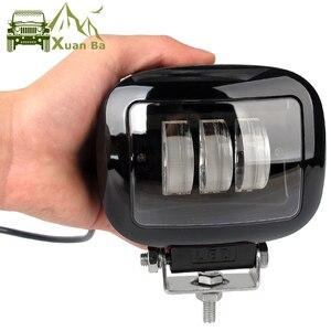 Image 1 - 6D lentille 5 pouces rond carré Led lumière de travail 12V pour voiture 4WD ATV SUV UTV camions 4x4 Offroad moto Auto travail conduite lumières