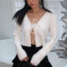 Woman cardigan crop sweater