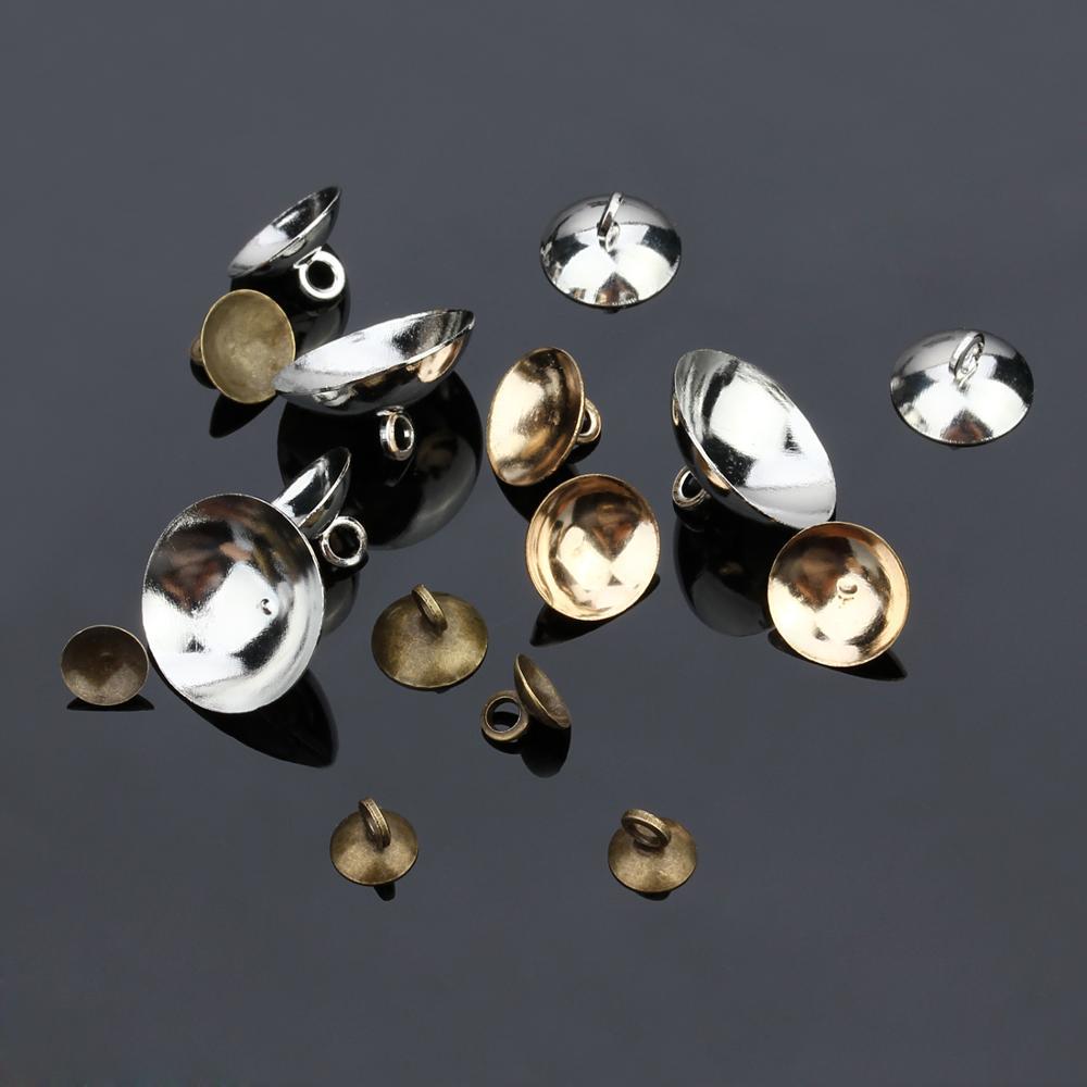 50 шт/лот бронзовая купольная крышка с железным жемчугом круглые