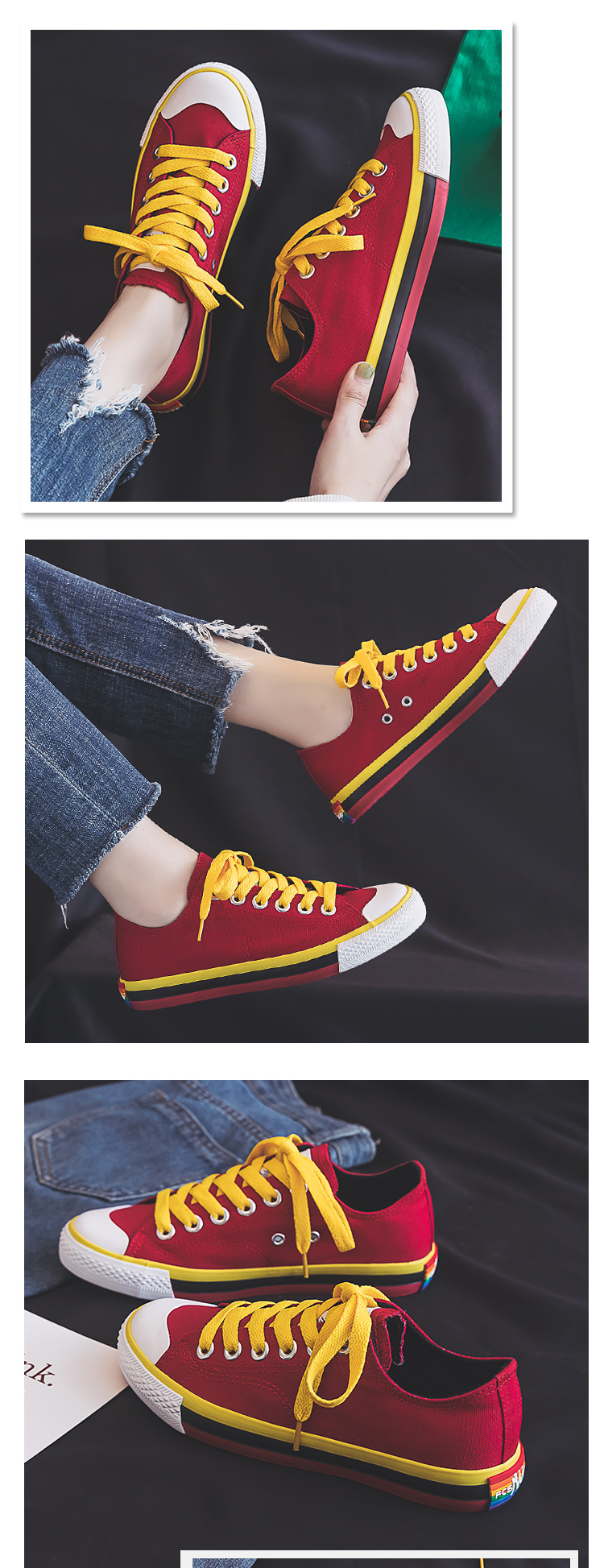 Candy Color Canvas Shoes for Woman