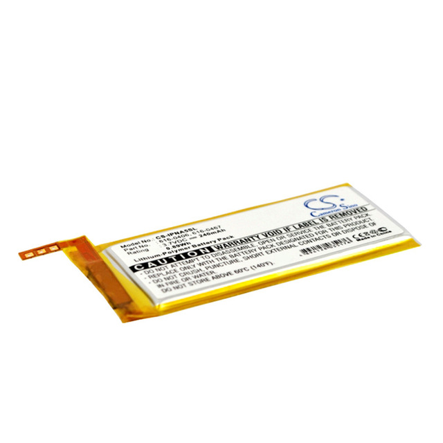 CameronSino for iPod Nano 5th 616-0406 616-0467 P11G73-01-S01 battery