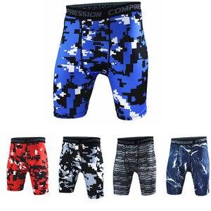 Новый стиль, дышащие мужские Компрессионные шорты, ММА, для тренировок, фитнеса, обтягивающие, камуфляжные, короткие штаны