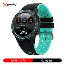 M6C GPS 스마트 워치 Smartwatch 여성 남성 2020 나침반 기압계 야외 스포츠 피트니스 트래커 심박수 스마트 워치 GPS