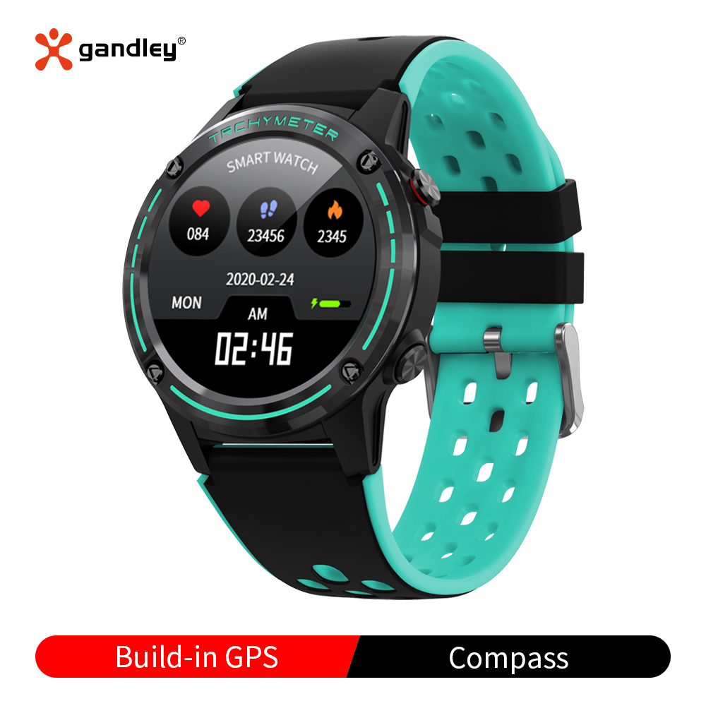 M6c gps relógio inteligente para android ios telefones com bússola barômetro rastreador de fitness freqüência cardíaca monitor pressão arterial relógio inteligente