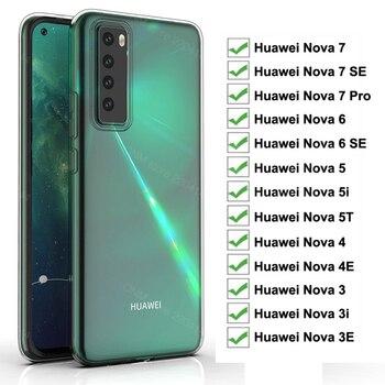 Перейти на Алиэкспресс и купить Чехол для Huawei Nova 7 Pro 6 SE 5G TPU Силиконовый Прозрачный Бампер Мягкий чехол для Huawei Nova 3 3E 3i 4 4E 5 5i 5T задняя крышка