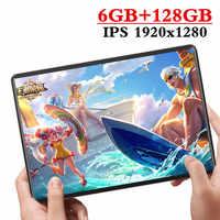 2020 Nuovo design da 10.1 pollici Tablet Android 9.0 8 Core 6GB di RAM + 128GB di ROM Doppia Fotocamera 8MP SIM Tablet PC Wifi GPS 4G Lte telefono