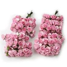 144Pcs Artificial Fake Rose Silk Flower Head Wedding Party Home Garden Decor Dried Flowers
