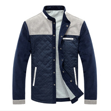 цены Men's Jacket Autumn Patchwork Baseball Uniform Slim Casual Coat Single Breasted Simple Coats Male Outerwear Cotton