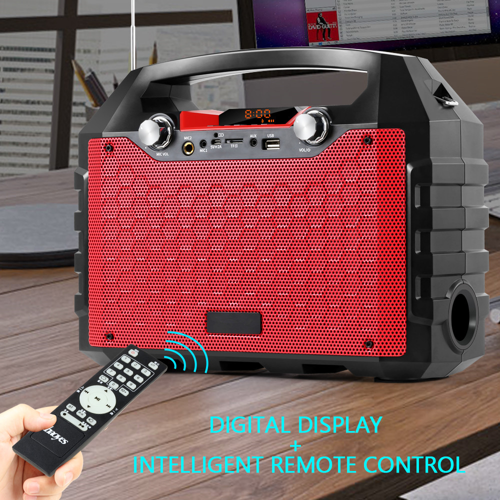 40W Bluetooth Speaker Portable Wireless Big Power Speakers Soundbox with Remote Control Support FM Radio MIC TF AUX USB|  - title=
