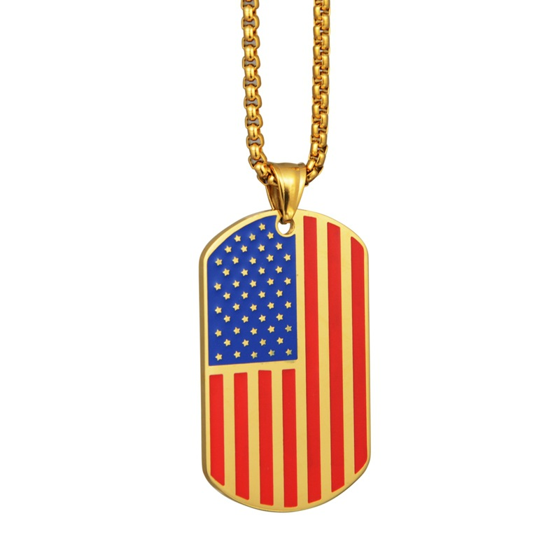 USA American Flag Patriotic Design Charm Bracelet Rhinestone HipHop Bling US