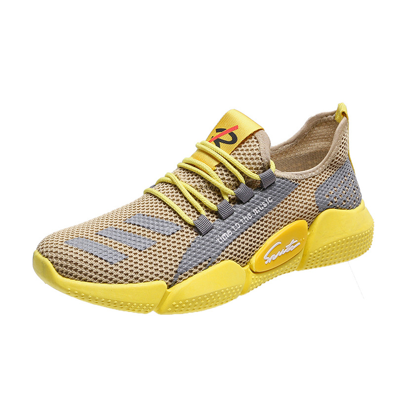 2020 autumn new breathable sports men's shoes casual shoes sneakers Korean trend cloth shoes 1