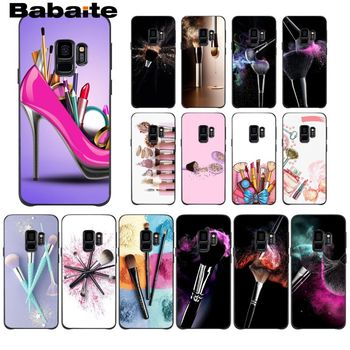 Girl Love Makeup Brush Luxury Phone Case For Samsung Galaxy A6 A6S PlUS A7 A720 A750 A8 Plus 2018 A9 A8 Star Cellphones image