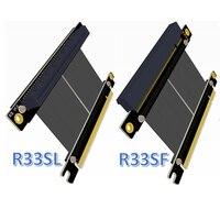 Riser Card PCI Express Gen3.0 PCI E 16x to PCIe 3.0 x16 Riser Graphics Card Ribbon Extension Cable 5cm for GTX1080ti QuadroK1200