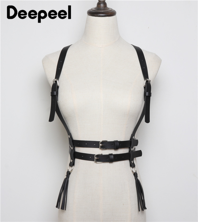 Deepeel 1pc 1.8cm*68-83cm Women PU High Waist Cummerbunds Bandage Corset Belt Goth Punk Style Girdle Leather Accessories YK708