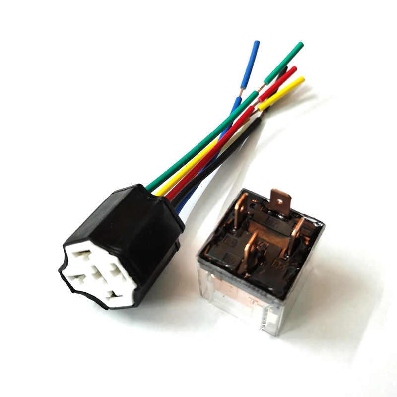 car transparent spdt 80a relay 4pins 5pins 12 volt coil dc 24v ...  aliexpress