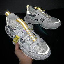 Height Increasing Spring New Sneakers Men Shoes Casual Fashi