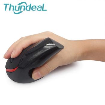 Pionowa bezprzewodowa mysz 2 4GHz S6 ergonomiczna 5Key pionowa radość ból nadgarstka optyczna prawa ręka zdrowe myszy 1600DPI na laptopa PC tanie i dobre opinie thundeal S6 Optical Ergonomic Mouse Desktop For Home Use Laptop For Office Use Creative about 10m 1200dpi