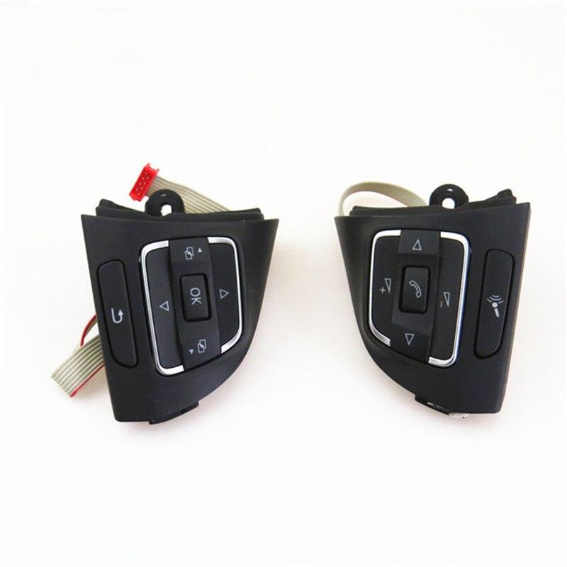 Кнопки на руль MF, левый и правый переключатель для Golf 6 для Tiguan CC 5C0959537A 5C0959538B