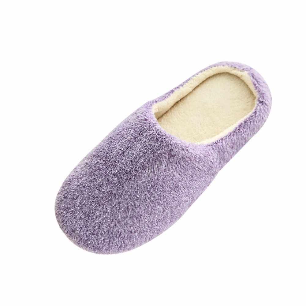 2019 Nieuwe Vrouwen Indoor Slippers Schoenen Winter Warm Thuis Pluche Zachte Slippers Binnenshuis Anti-slip Vloer Slaapkamer Schoenen Zachte flip Flop